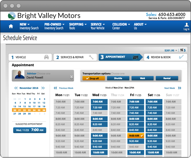 Online Scheduling screenshot